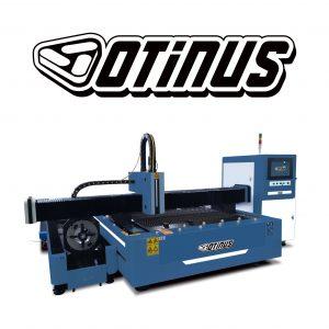 Wycinarki laserowe otwarte z obrotnicą i wymiennym stołem CNC Otinus